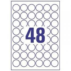 ETYKIETY A4 AVERY HEAVY DUTY 30mm KÓŁKO BIAŁE (20)