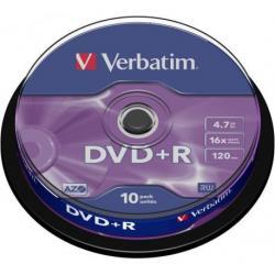 PŁYTY VERBATIM DVD+R cake 10 szt.