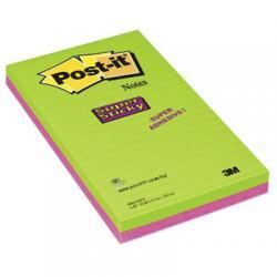 Bloczki samoprzylepne 3M POST-IT® 5845- SSU 125x200 Mix 4x45k Linia