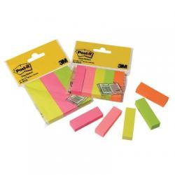 Znaczniki samoprzylepne Post-it®, neonowe, 100 kart, 5 bloczki 15 x 50 mm 670/5 3M