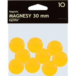 MAGNESY DO TABLIC 30mm ŻÓŁTE (10)