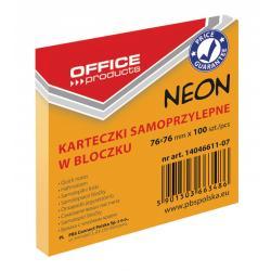 KARTECZKI OFFICE PRODUCTS 76x76mm POMAR. NEON (100