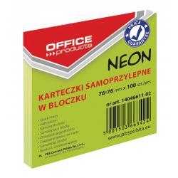 KARTECZKI OFFICE PRODUCTS 76x76mm ZIELONE NEO (100