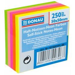 KARTECZKI DONAU 50x50mm 5 KOLORÓW NEON (250)
