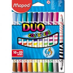 FLAMASTRY DWUSTRONNE MAPED DUO COLORPEPS 20 KOL.