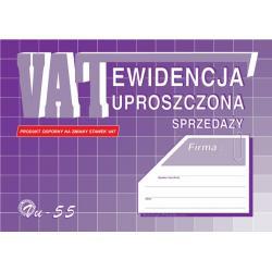 EWIDENCJA VAT - SPRZEDAŻY (UPROSZCZONA) A5 (OFFSET