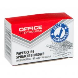 SPINACZE OKRĄGŁE 33mm OFFICE PRODUCTS (100)