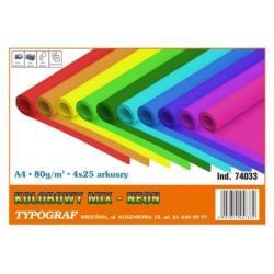 PAPIER TYPOGRAF A4/80g NEON 25x4 KOLORY (100)