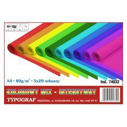 PAPIER TYPOGRAF A4/80g INTENS 20x5 KOLORÓW (100)