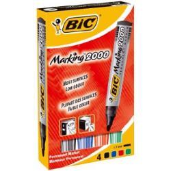MARKERY PERMANENTNE BIC 2000 4 KOLORY
