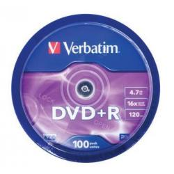 PŁYTA VERBATIM DVD+R cake 100 szt.