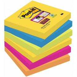 KARTECZKI POST-IT SUPER STICKY 76 X 76 MM 654-6SS-RIO MIX KOLORÓW (6 X 90)