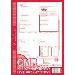 CMR MIĘDZYNARODOWY LIST PRZEWOZOWY (O+4K) MICHALCZYK I PROKOP A4