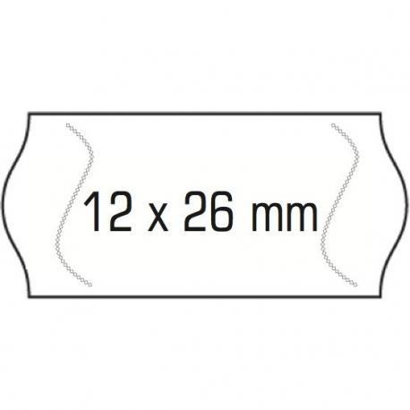 ETYKIETY DO METKOWNIC 1-RZĘDOWE 26 X 12 MM AVERY 1500 ETYKIET/ROLKA USUWALNE