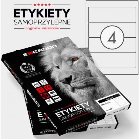 ETYKIETY 190 X 61.0 MM. 4 SZT/A4 EMERSON UNIWERSALNE