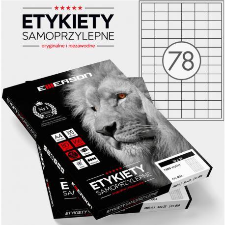 ETYKIETY 33 X 22.0 MM. 78 SZT/A4 EMERSON UNIWERSALNE