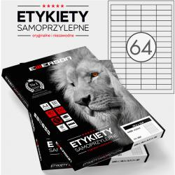 ETYKIETY 48.5 X 16.9 MM. 64 SZT/A4 EMERSON UNIWERSALNE