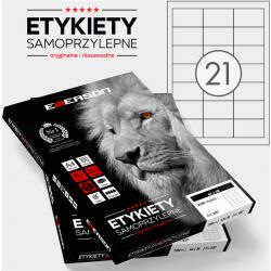 ETYKIETY 63 X 38.0 MM. 21 SZT/A4 EMERSON UNIWERSALNE