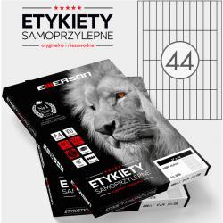 ETYKIETY 74 X 17.0 MM. 44 SZT/A4 EMERSON UNIWERSALNE