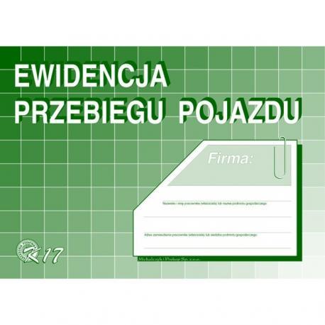 EWIDENCJA PRZEBIEGU POJAZDÓW BEZ KOSZTÓW (OFFSET) MICHALCZYK I PROKOP A5
