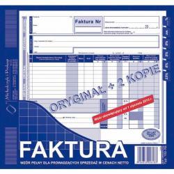 FAKTURA NETTO 2/3 A4 (PEŁNA) (O+2K) MICHALCZYK I PROKOP