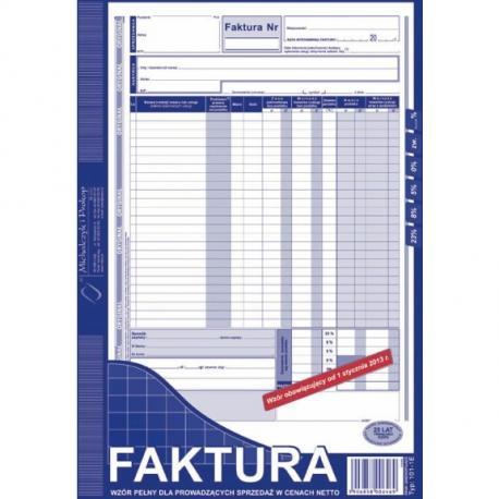 FAKTURA NETTO A4 (PEŁNA) (O+1K) MICHALCZYK I PROKOP