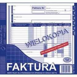FAKTURA NETTO 2/3 A4 (PEŁNA) (WIELOKOPIA) MICHALCZYK I PROKOP