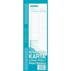 INDYWIDUALNA KARTA CZASU PRACY PRACOWNIKA 1/2 A4 (OFFSET)