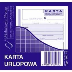 KARTA URLOPOWA (OFFSET) MICHALCZYK I PROKOP 2/3 A6