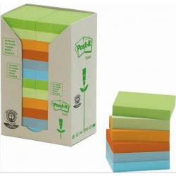 KARTECZKI POST-IT ECO 38 X 51 MM MIX KOLOR (24 X 100)