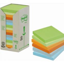 KARTECZKI POST-IT ECO 76 X 76 MM MIX KOLOR (16 X 100)