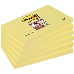 BLOCZEK POST-IT SUPER STICKY ŻÓŁTY 76 X 127 MM 655-S 90 KARTEK