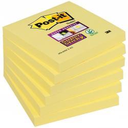 BLOCZEK POST-IT SUPER STICKY ŻÓŁTY 76 X 76 MM 654-S 90 KARTEK