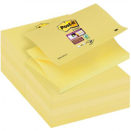 KARTECZKI POST-IT SUPER STICKY Z-NOTES 76 X 127 MM R350-12SS-CY ŻÓŁTE (90)