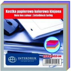 KOSTKA PAPIEROWA 85 X 85 X 35 MM KLEJONA KOLOR