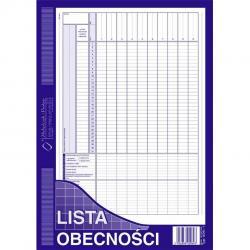 LISTA OBECNOŚCI (OFFSET) MICHALCZYK I PROKOP A4