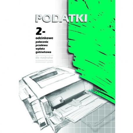 PODATKI - PRZELEW/WPŁATA 2-ODCINKI A4. 100 ARKUSZY (OFFSET) MICHALCZYK I PROKOP