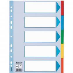 PRZEKŁADKI ESSELTE A4 KOLOROWE 5 KARTEK