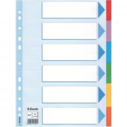 PRZEKŁADKI ESSELTE A4 KOLOROWE 6 KARTEK