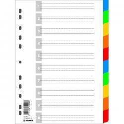 PRZEKŁADKI PLASTIKOWE 10 KARTEK DONAU PP A4 KOLOROWE EKOLOGICZNE