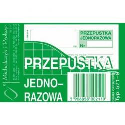 PRZEPUSTKA JEDNORAZOWA (OFFSET) MICHALCZYK I PROKOP A7