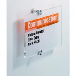 TABLICZKA INFORMACYJNA 148 X 148 MM DURABLE CRYSTAL SIGN