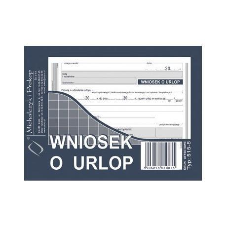 WNIOSEK O URLOP (OFFSET) MICHALCZYK I PROKOP A6
