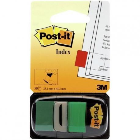 ZAKŁADKI POST-IT 25 X 43 MM 680-3 ZIELONE 50 KARTEK