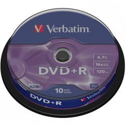PŁYTY VERBATIM DVD+R CAKE (10)