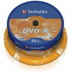 PŁYTA DVD-R VERBATIM CAKE BOX 25 SZT.