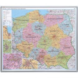 TABLICA MAPA ADMINISTRACYJNA 102.5 X 120 ALU 123