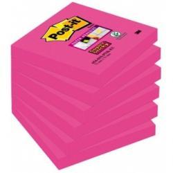 KARTECZKI POST-IT SUPER STICKY 76 X 76 MM FUKSJA
