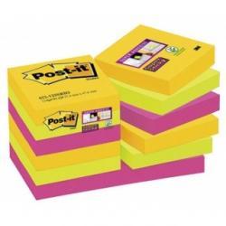 KARTECZKI POST-IT SUPER STICKY 47.6 X 47.6 MM MIX KOLORÓW