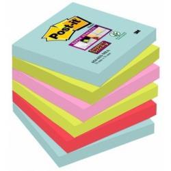 KARTECZKI POST-IT SUPER STICKY 76 X 76 MM MIX KOLOR
